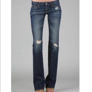 AG Angel Bootcut Distressed Jeans Sz 27